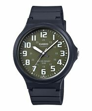 MW-240-3B Green Casio Watches Unisex Water Resist Analog Resin Band Brand-New