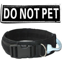 "Tactical Collar Police Safety Heavy Duty Strong Clip Nylon 2"" Wide Dog Collar"