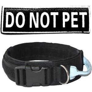 "Tactical Collar Police Safety Heavy Duty Strong Clip Nylon 2"" Wide Dog Collar"