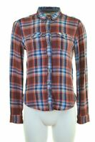 ABERCROMBIE & FITCH Womens Flannel Shirt Size 6 XS Multi Check Loose Fit  JA15