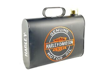 VINTAGE STYLE HARLEY DAVIDSON AUTOMOTIVE OIL CANISTER RUSTIC WALL MOUNT