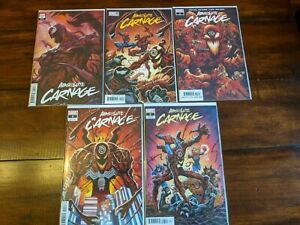 ABSOLUTE CARNAGE #1-5 (Donny Cates) *Marvel Comics, Venom* Full Set of 5