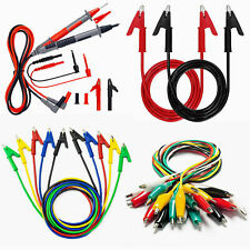 Test Tester Leads Probes Crocodile Alligator Clips Spare For Multimeter Kaiweets