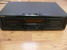 Vintage Onkyo Ta-Rw414 Black Stereo Dual Cassette Double Tape Deck works great
