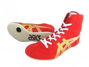 ASICS Wrestling Boxing Shoes EX-EO TWR900 Red x Gold From Japan Fast Shipping