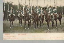 carte postale Dresden casques à pointe Auf Patrouille non circulé