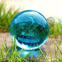 Light Blue Quartz Magic Crystal Cut Glass Healing Ball Sphere + Stand 40mm