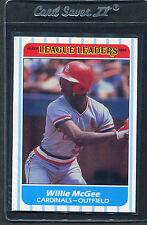1986 Fleer League Leaders Willie Mcgee #24 Mint