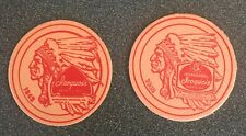 Iroquois  Beer Coasters 2 different