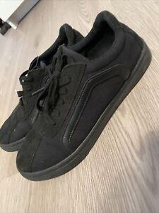 Size 8 Trainers Black Dunlop