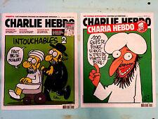 2 CHARLIE HEBDO french magazine  very rare No 1011+1057!!! FREE SHIPPING!