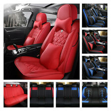 Luxury Pu Leather Car Seat Covers Full Set Universal Interior Cushion Protector