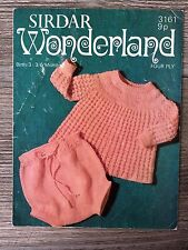 Sirdar Knitting Pattern: Baby Angel Top, 4ply, 0-6months, 3161
