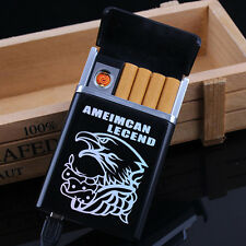Hot Dual Arc USB Electric Rechargeable Flameless Lighter Cigar Cigarette Boxes