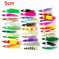 "100pcs 4/"" Blam Swimbaits Squid 4 inch Swim baits Fishing Soft Lure Random Colors"