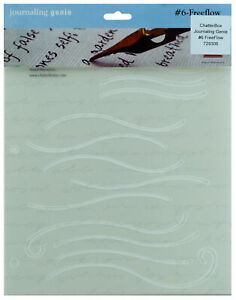 Chatterbox Journaling Genie Template #6 Freeflow Design Lines For Lettering