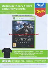 "Quantum Theory Xbox 360 ""Asda"" 2010 Magazine Advert #4598"