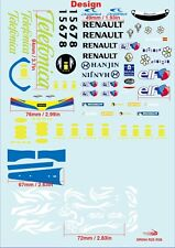 1/10 2005 06 Alonso Renault F1 R25 R26 Decal sticker for Tamiya F103 F104