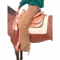 Tough 1 Sand Colored Suede Leather Equitation Chaps in Small horse tack 63-310