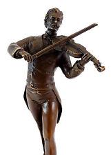 Bronzefigur - Komponist Johann Strauss - signiert Milo