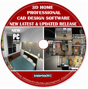 3D CAD Pro Home Office Studio Interior Design Software Planning Auto PC DVD New
