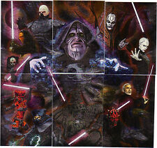 Star Wars Galaxy 7 etched foil set 1-6