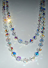 Spectacular Mid-Length Clear AB Crystal Necklace
