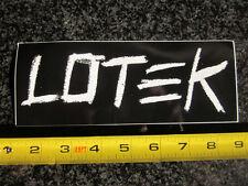 """8"""" LOTEK Black Shoe BMX Street Dirt Bicycle Ride Race Bike Frame Sticker Decal"""