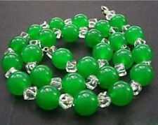10mm Charm necklaces and emerald green jade crystal