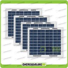 Stock 4 Pannelli Solari Fotovoltaici 5W 12V multiuso Pmax 20W