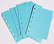 9 Shimmery Aqua  Filofax POCKET size  dividers monthly subject top tab