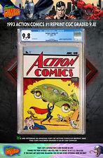 ACTION COMICS #1 REPRINT • CGC GRADED 9.8!