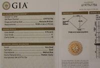 GIA certified loose .76ct I2 E Marquise cut diamond vintage estate antique