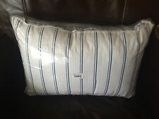 Chaps Claire Decorator Oblong Throw Pillow Blue & White Retired Nwt Cotton