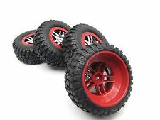 SLASH PLATINUM TIRES RED S1 racing COMPOUND 12mm 4x4 Tyres 5873R Traxxas 6804r