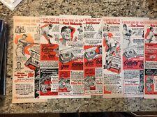 1940s/1950s Gillette Ad Baseball Players LOT Of 10 Mize Lemon Rosen Hansen
