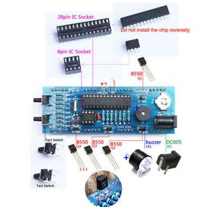 4 Digit DIY Digital LED Clock Kit Temperature Date Time Display Transparent Case