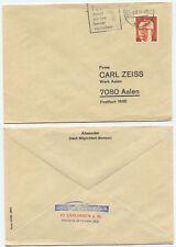 34003 - Beleg - Brillen Günther- Esslingen 3.12.1974 nach Aalen - Carl Zeiss