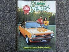 HOLDEN GEMINI TX 1976  SALES BROCHURE