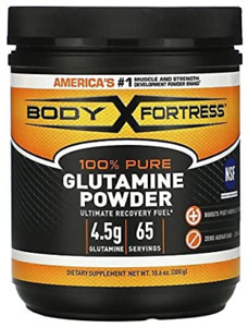 Body Fortress 100% Pure Glutamine Powder, Supports Post Workout Recovery, 10.6