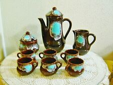 11 Piece French Majolica Coffee Set