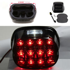 12V Motorrad Rauch Objektiv LED Rücklicht Kennzeichenleuchte für Harley Davidson
