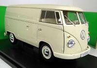 Nex 1/18 Scale 18053W 1963 Volkswagen T1 Bus Panel van Cream Diecast model van