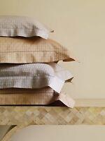 Sferra Leon Grey Standard Shams (2) 100% Egyptian Cotton Sateen Modern Italy NEW