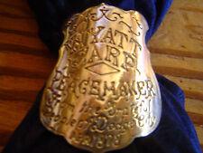 Wyatt Earp, brass Gun Grip tag for inlay.