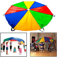 10 ft Kids Rainbow Play Parachute Outdoor Indoor Children's Activity Game Sport