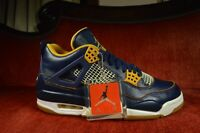 VNDS Nike Air Jordan Retro 4 IV Dunk From Above Navy Blue Gold 308497-425 Size 8