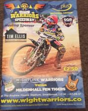 2017 ISLE OF WIGHT v MILDENHALL FEN TIGERS 7th SEPTEMBER ( EXCELLENT CONDITION )