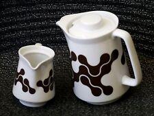 notNeutral Poland Porcelain Links Pattern Coffee Tea Pot & Creamer Set