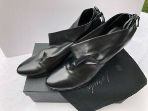 MARSELL Size EU 41, Black Leather High-front Shoes, VGC RRP £500
